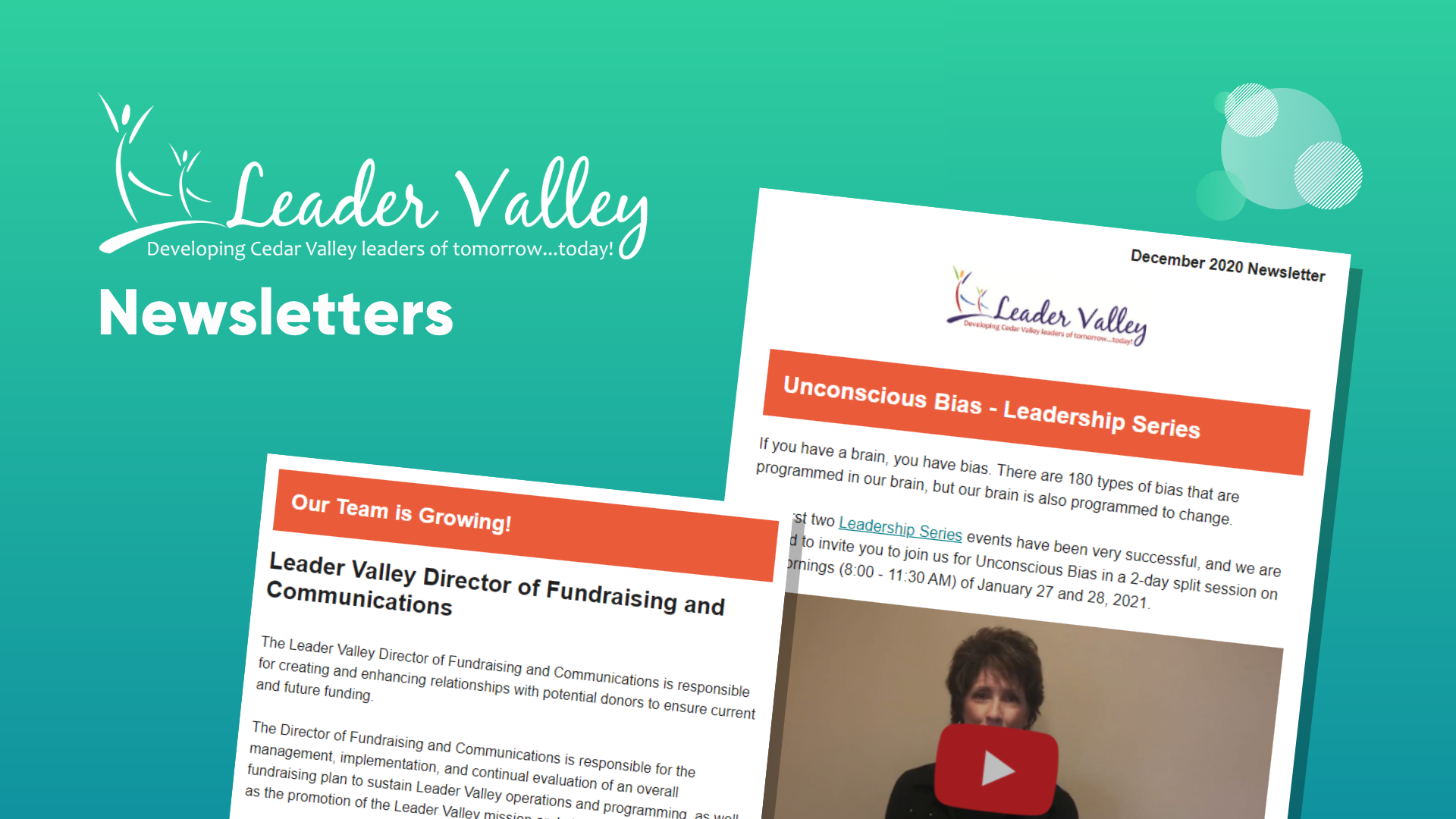 Leader Valley email newsletter